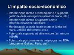 l impatto socio economico