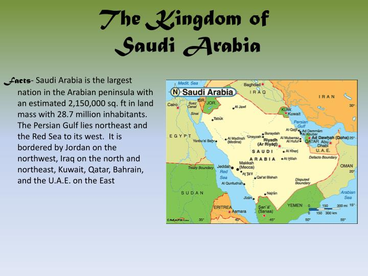 a study of the geography of saudi arabia Kuwait: the five themes of geography alahji barry 02/17/16 4b-ap human geography the relative location of kuwait: north of saudi arabia southeast of syria.