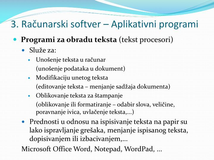 3 ra unarski softver aplikativni programi1