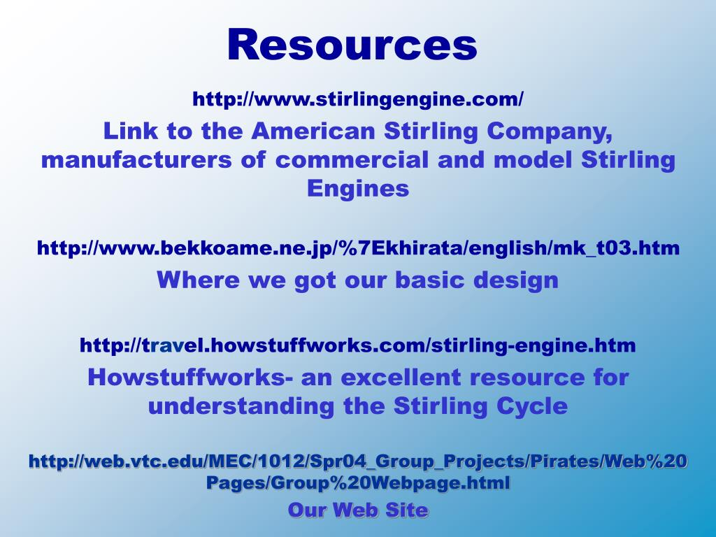 PPT - The Stirling Engine PowerPoint Presentation - ID:4421142