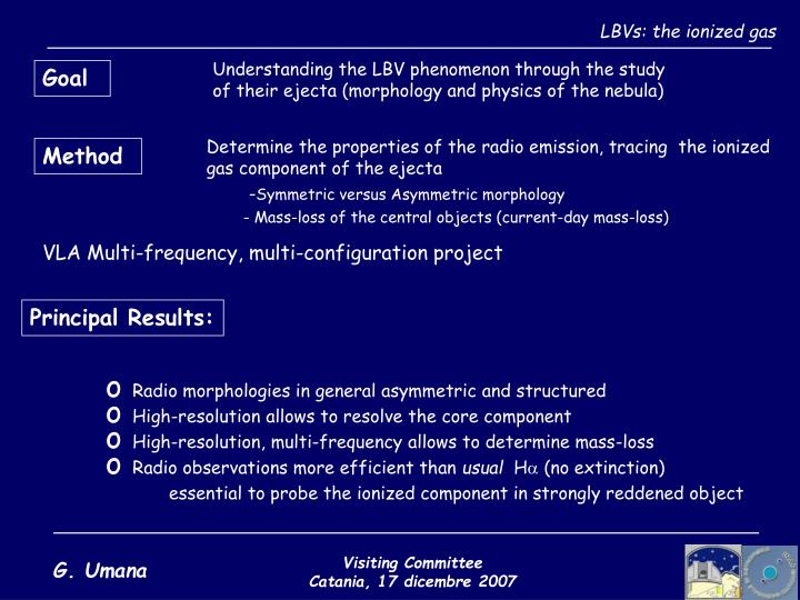 LBVs: the ionized gas
