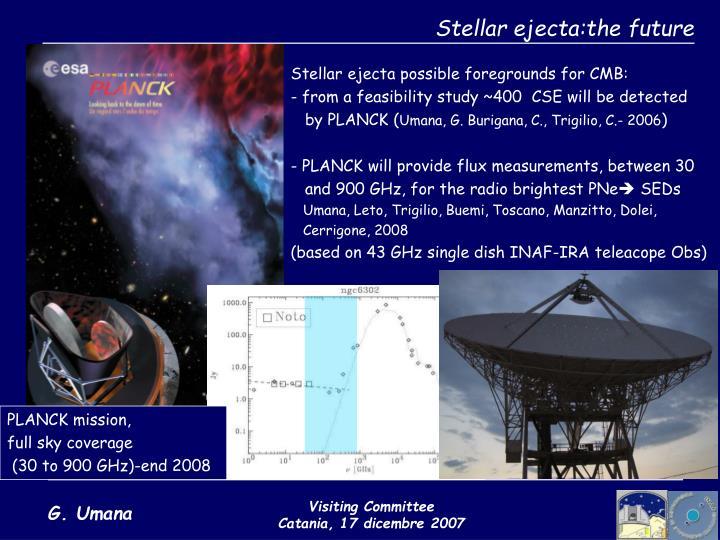 Stellar ejecta:the future