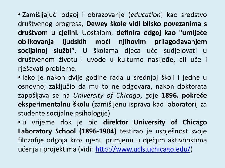 Zamišljajući odgoj i obrazovanje (