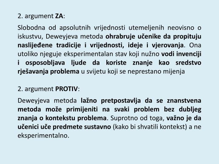 2. argument