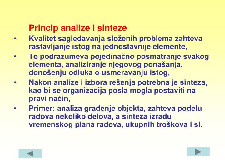 Princip analize i sinteze