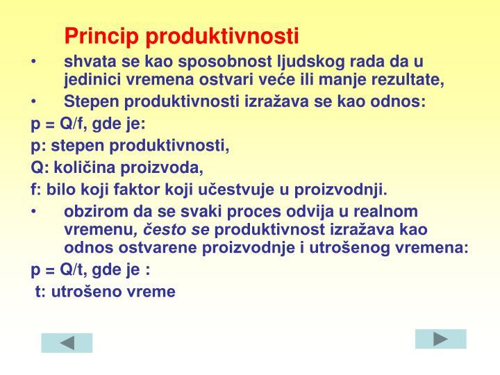 Princip produktivnosti