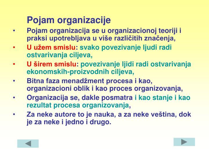 Pojam organizacije