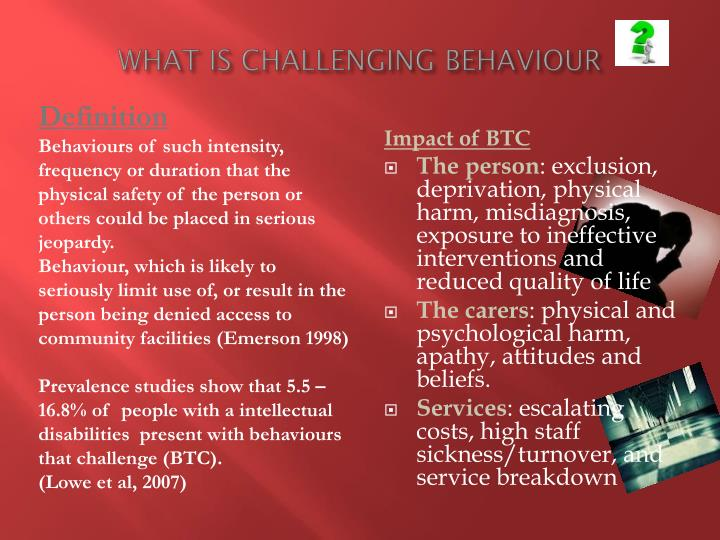 What is challenging behaviour