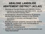 abalone landslide abatement district aclad