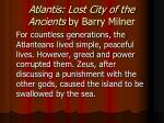 atlantis lost city of the ancients by barry milner