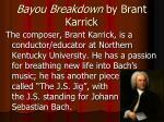 bayou breakdown by brant karrick2
