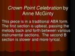 crown point celebration by anne mcginty1