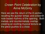crown point celebration by anne mcginty2