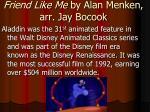 friend like me by alan menken arr jay bocook