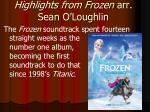 highlights from frozen arr sean o loughlin