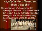 highlights from frozen arr sean o loughlin1