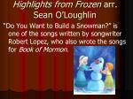 highlights from frozen arr sean o loughlin2