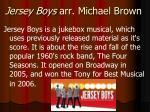 jersey boys arr michael brown