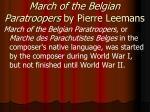 march of the belgian paratroopers by pierre leemans