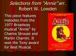 selections from annie arr robert w lowden