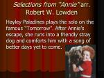 selections from annie arr robert w lowden1