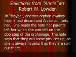 selections from annie arr robert w lowden3
