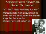 selections from annie arr robert w lowden6