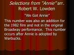 selections from annie arr robert w lowden7