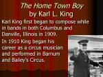 the home town boy by karl l king
