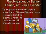 the simpsons by danny elfman arr paul lavender