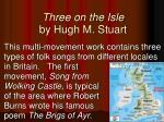 three on the isle by hugh m stuart