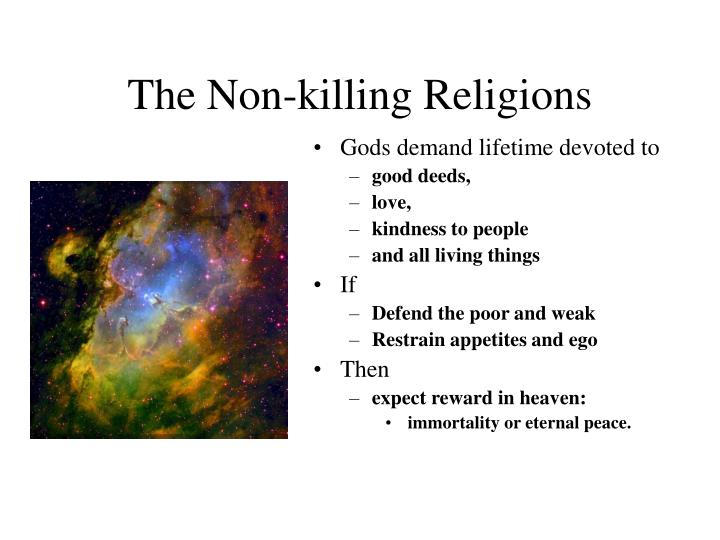 The Non-killing Religions