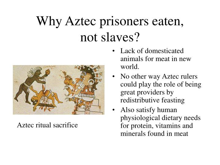 Why Aztec prisoners eaten,
