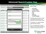 advanced search custom view