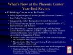 what s new at the phoenix center year end review