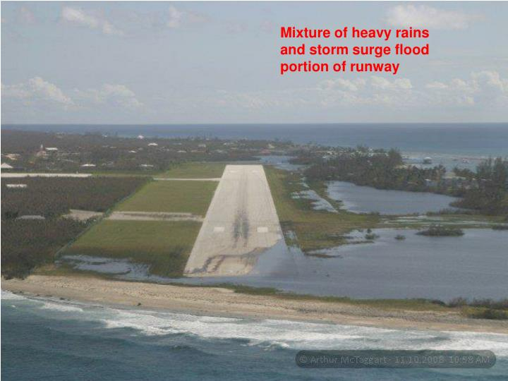 Mixture of heavy rains and storm surge flood portion of runway
