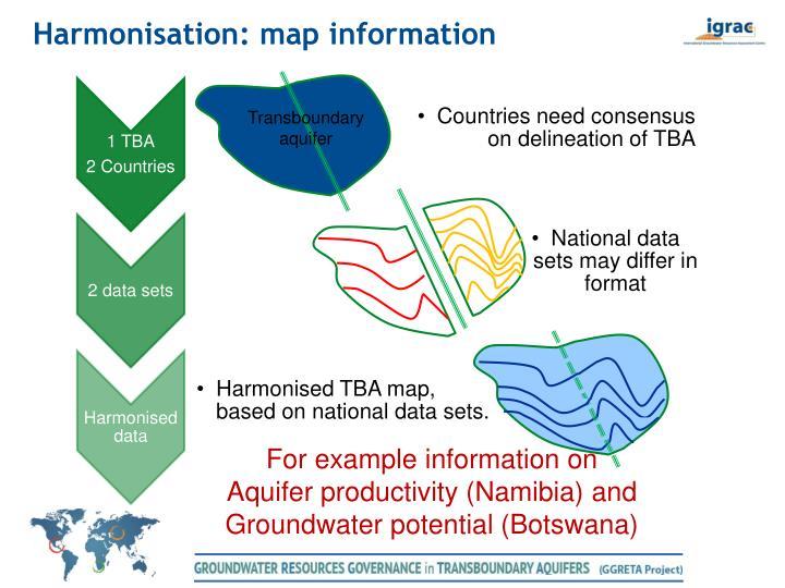 Harmonisation: map information