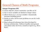 general classes of math programs2