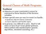 general classes of math programs3