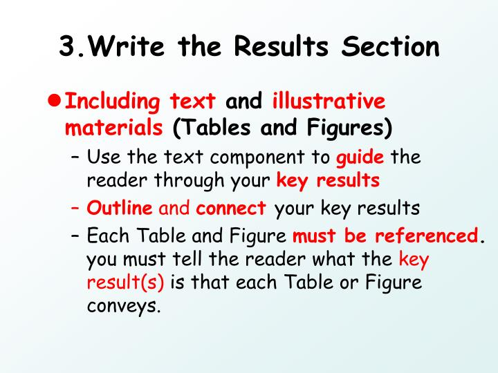 3.Write the Results Section