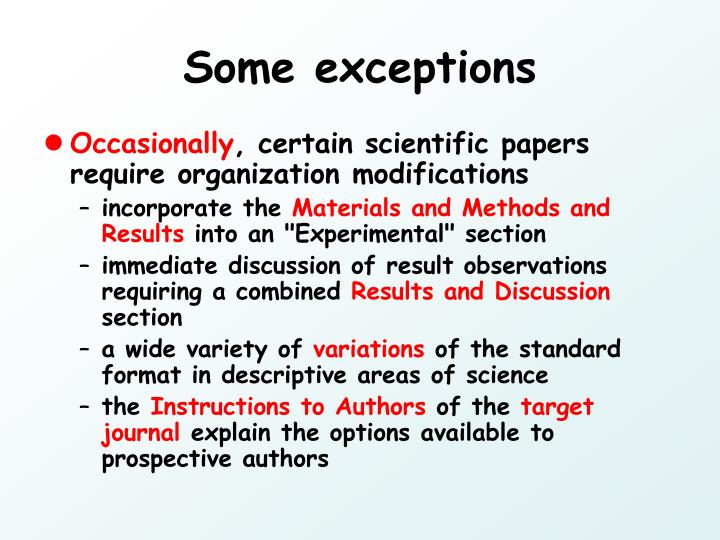 Some exceptions
