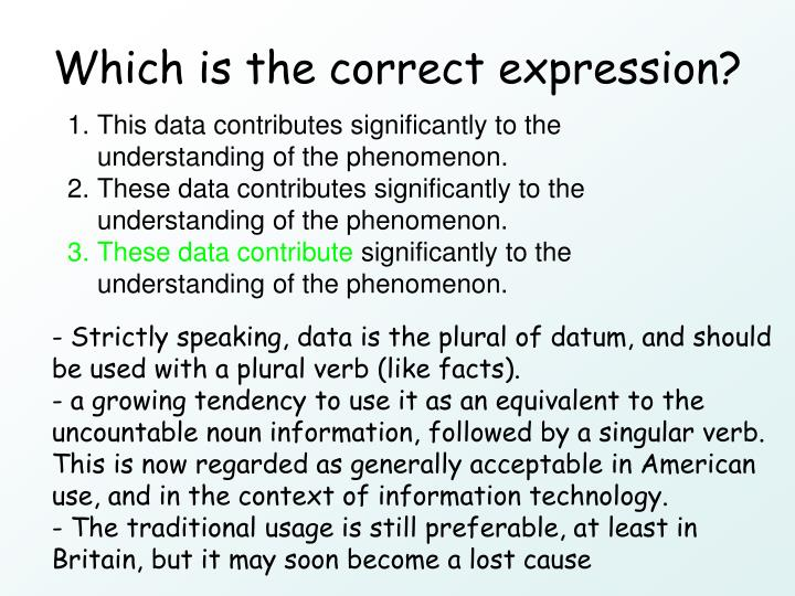 Which is the correct expression?