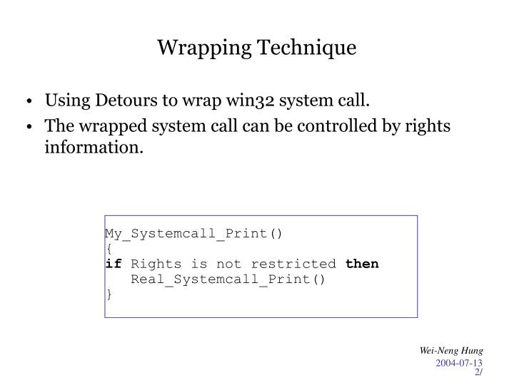 Wrapping technique