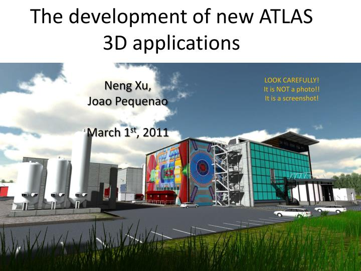 the development of new atlas 3d applications n.