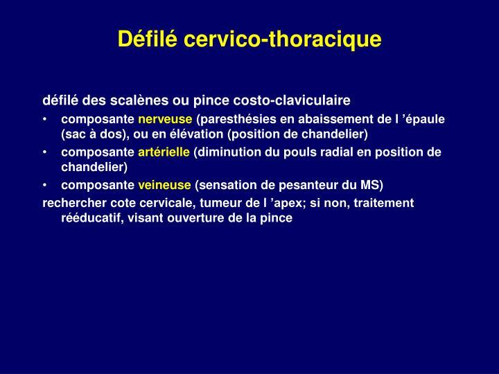 Défilé cervico-thoracique