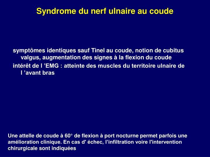 Syndrome du nerf ulnaire au coude