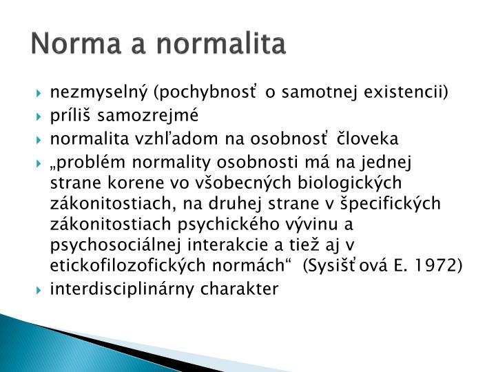 Norma a normalita
