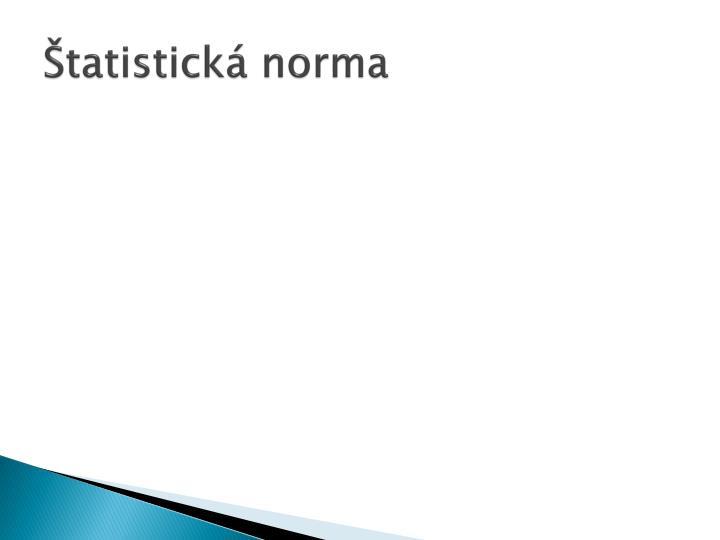 Štatistická norma