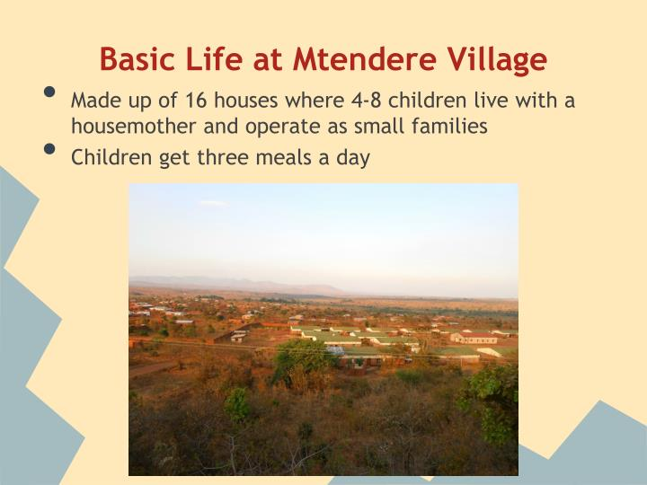Basic Life at Mtendere Village