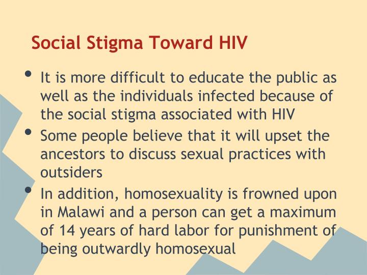 Social Stigma Toward HIV